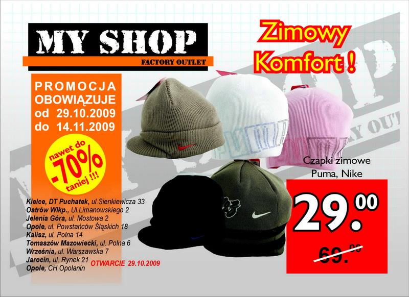 Myshop Sklep Wyprzedazowy Towarow Markowych Gazetka Promocyjna 2009 10 29 2009 11 14