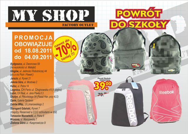 Myshop Sklep Wyprzedazowy Towarow Markowych Gazetka Promocyjna 2011 08 18 2011 09 04